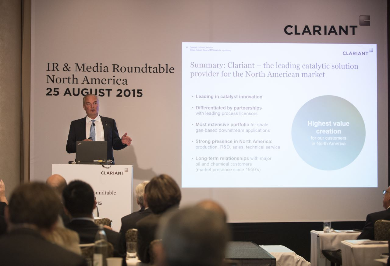 Stefan Heuser, Head of the Business Unit Catalysts about Clariant as leading catalytic solution provider <br>