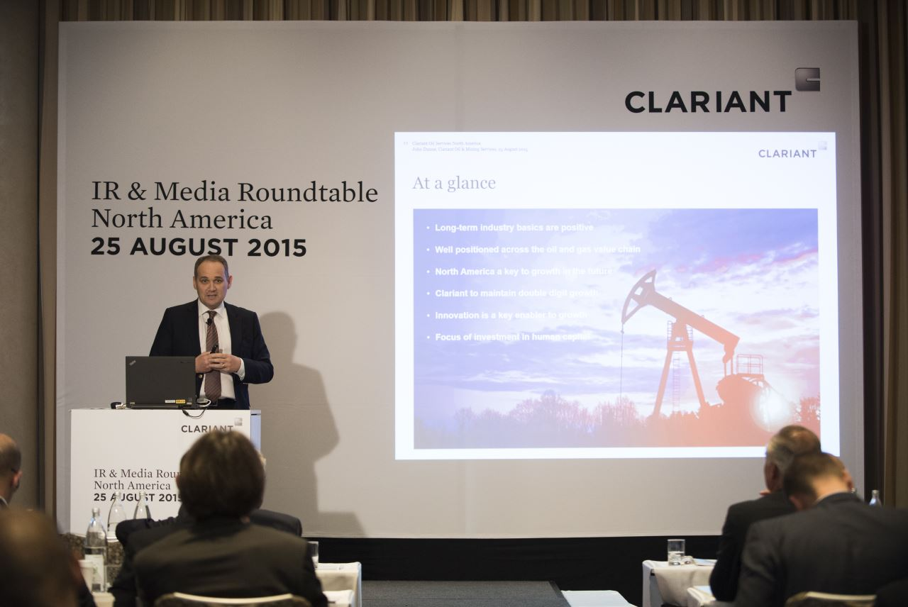 "John Dunne, Head of the Oil and Mining Services business: ""Clariant is well positioned for growth in North America"" <br>"