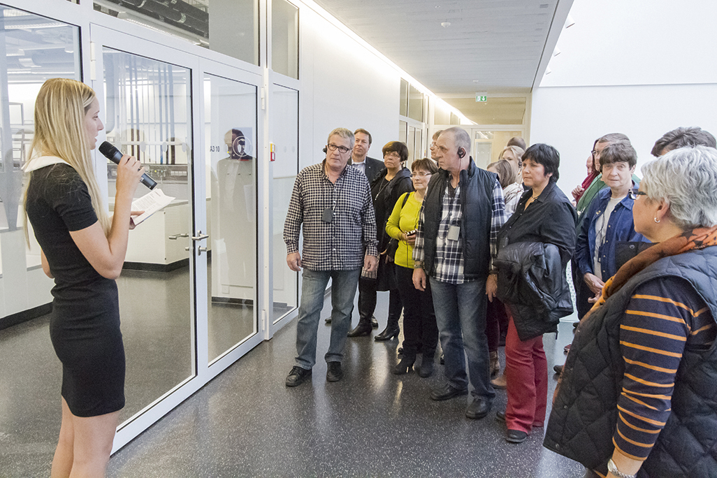 Tours of all four floors of the light-flooded, open building offered exciting glimpses of Clariant's various departments and research focuses.